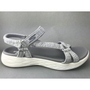 7323088154e SKECHERS sandal m. satineffekt - grå/sølv