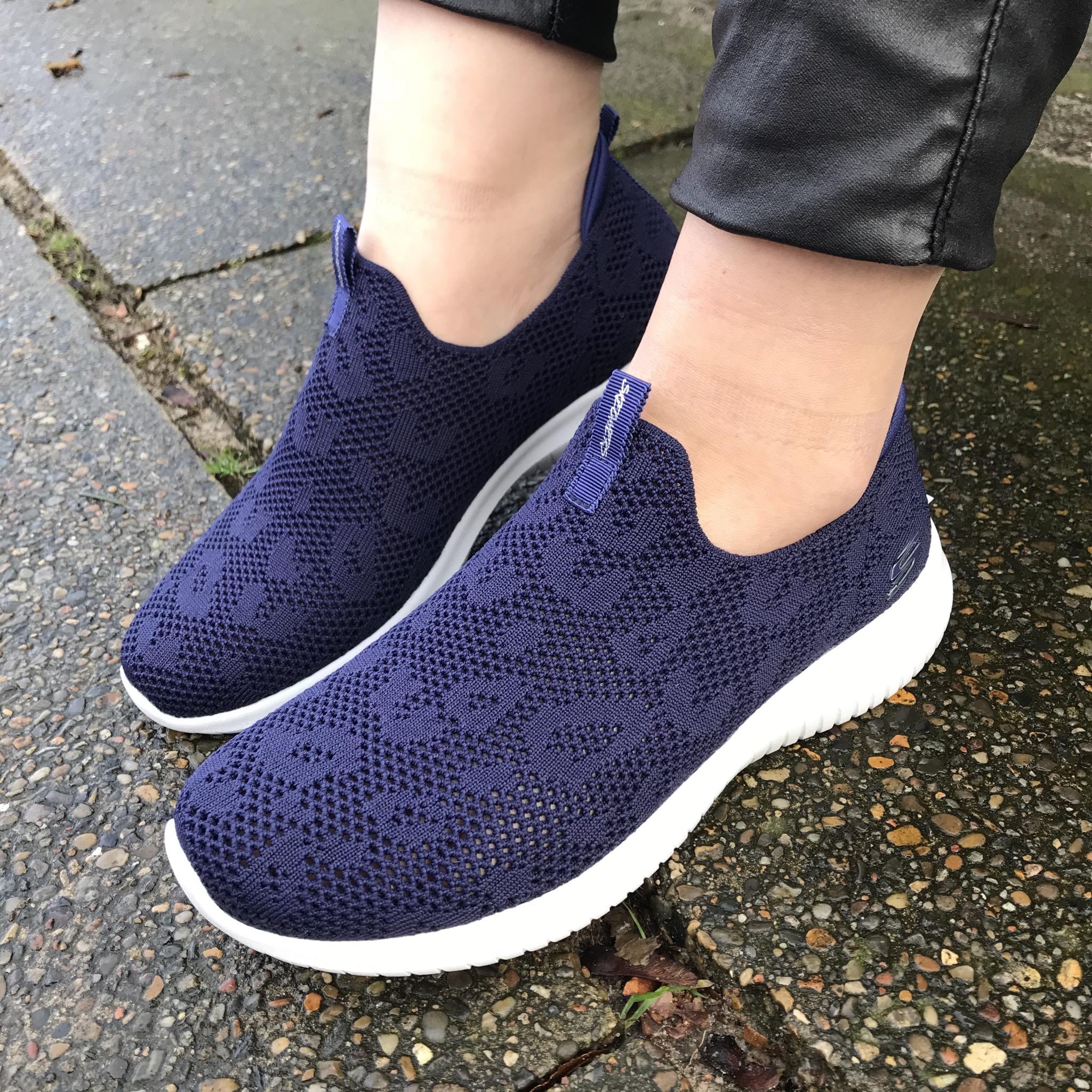 SKECHERS sneakers uden snøre blå 149009