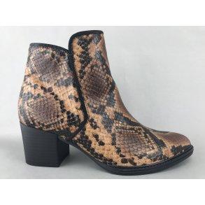 Gabor støvle m. hæl brun snake 3289035 DAME zjoos