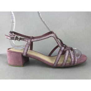 31a9c0374e7 Marco Tozzi sandal m. lille hæl og glimmer - rosa
