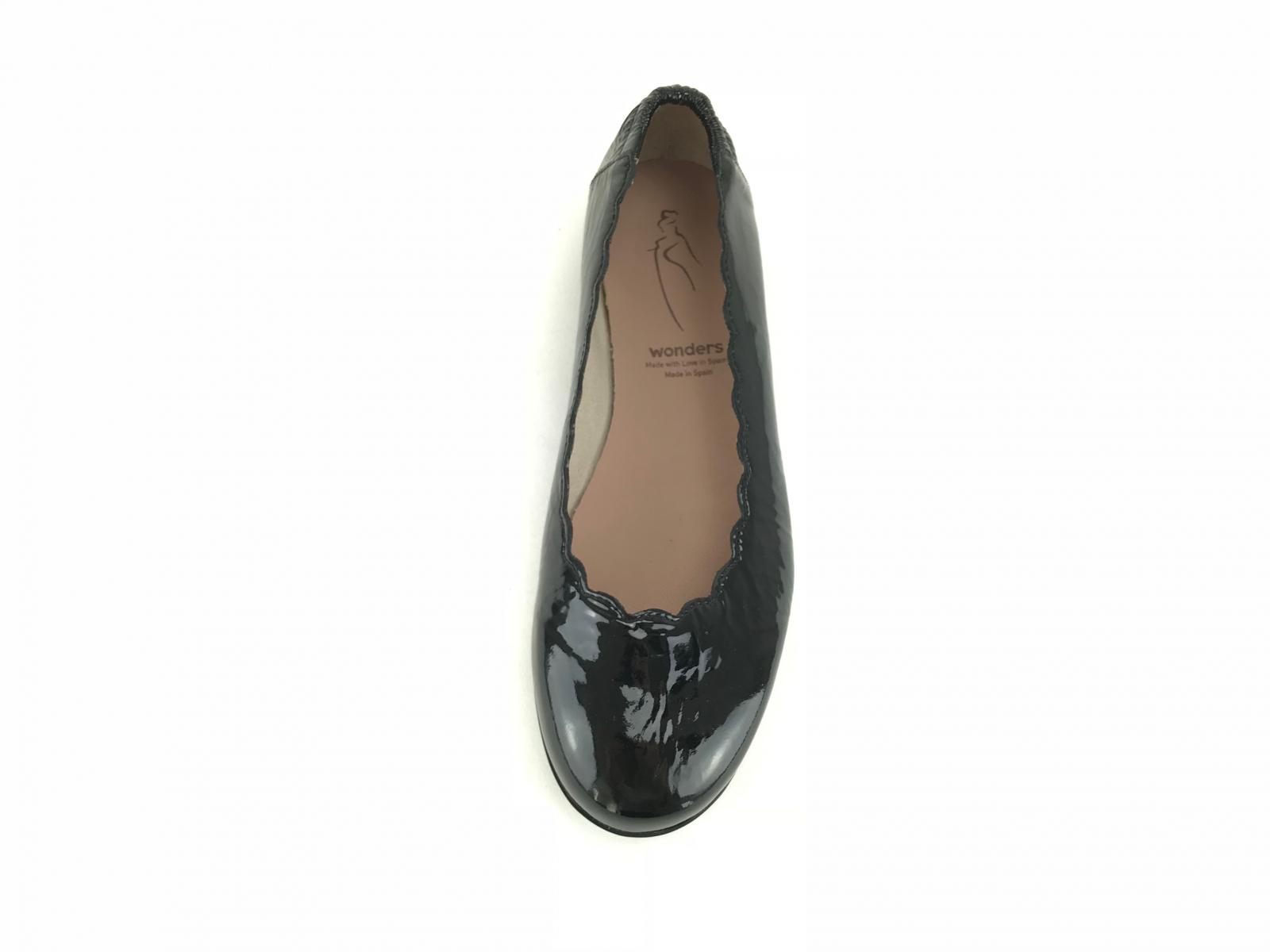 Wonders loafer m. kroko - sort C-5020 - DAME - zjoos