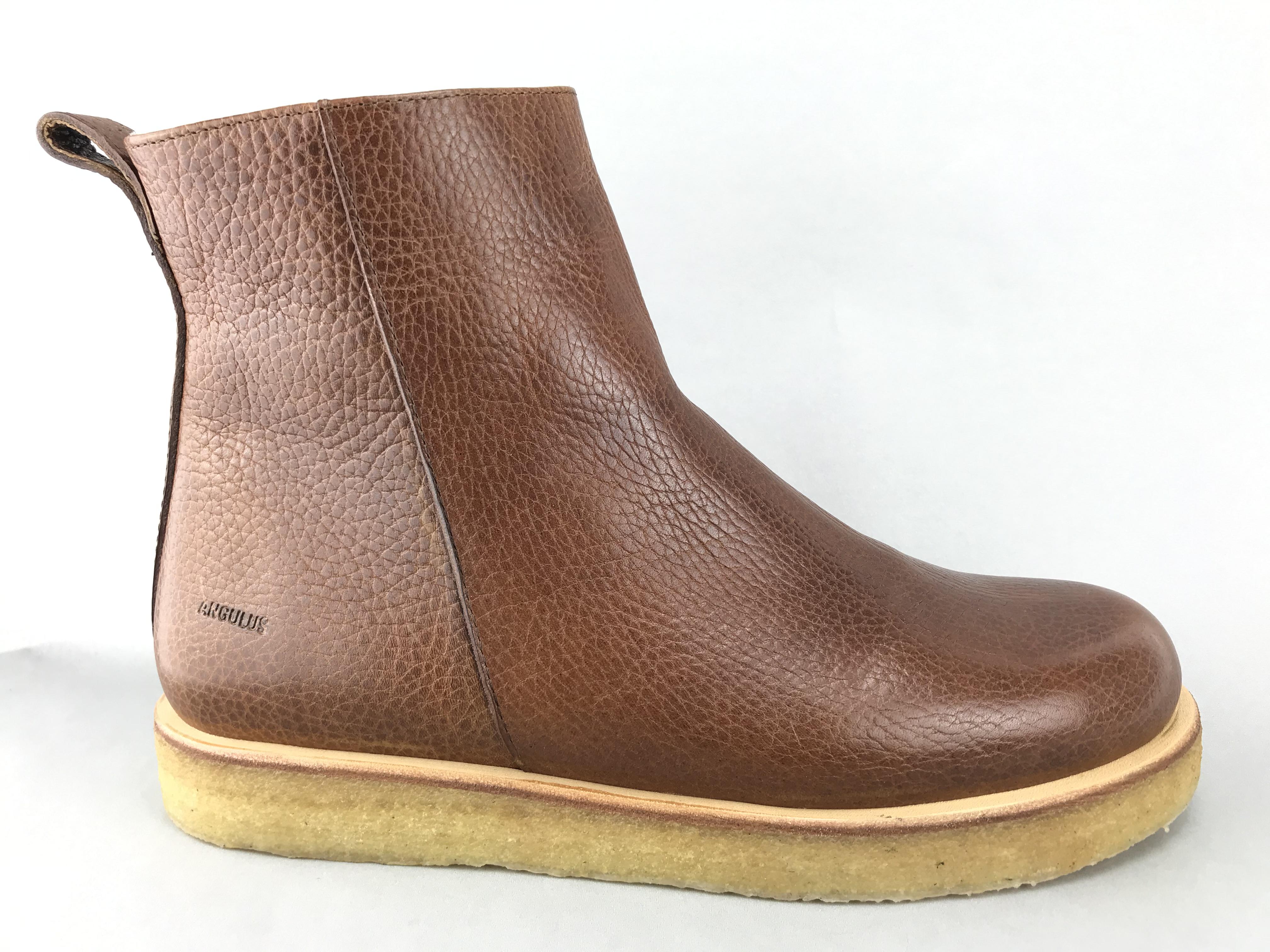 Angulus støvle m. uldfoer cognac 7561