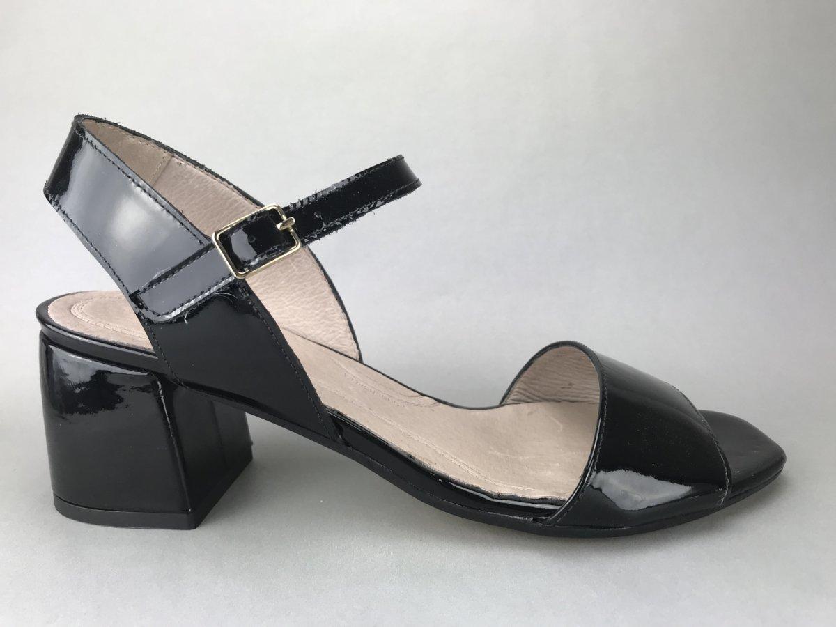 Wonders sko m. hæl og bølgekant - sort - DAME - zjoos