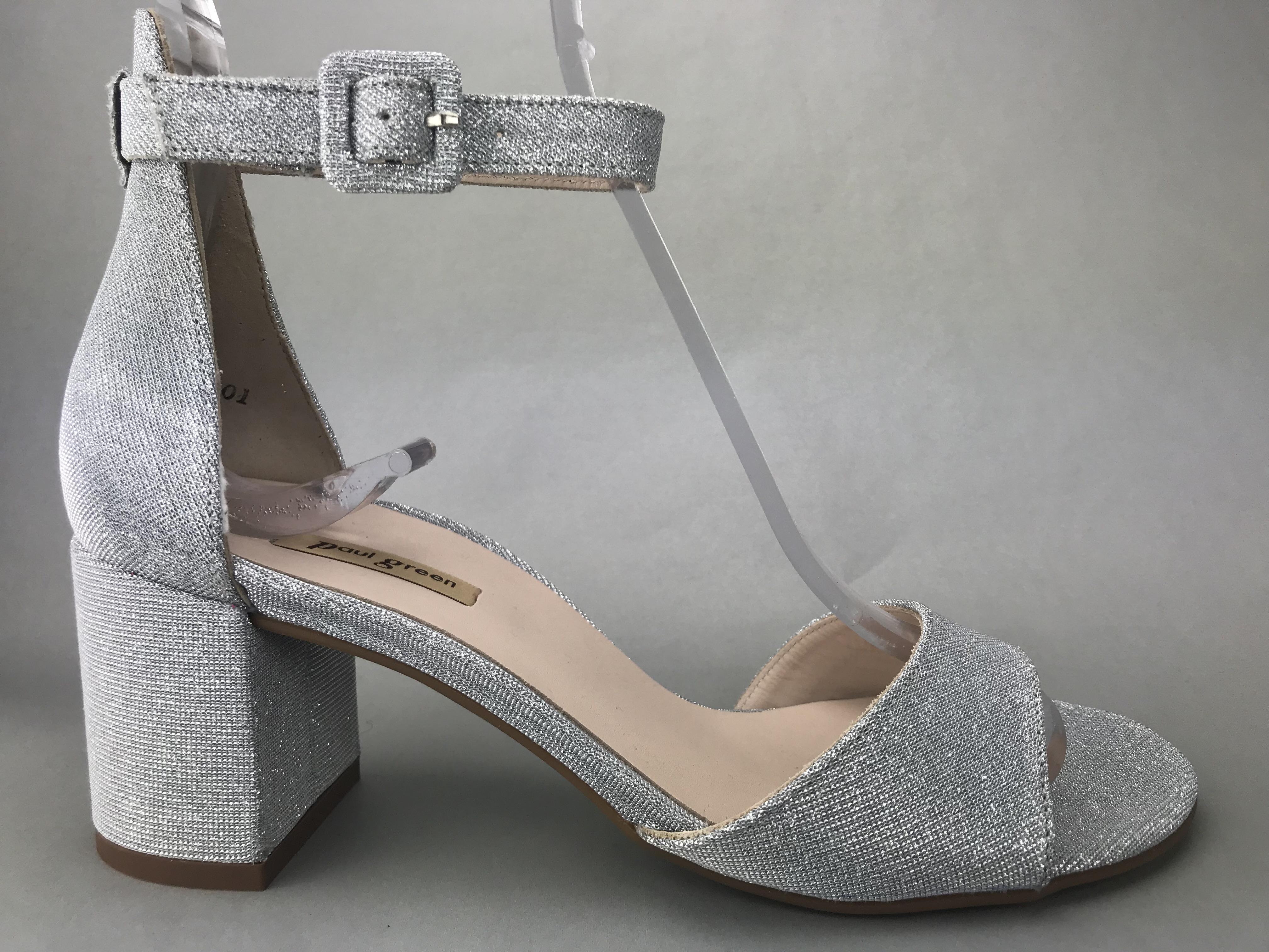 052806e8 Paul Green sandal m. hæl - sølv - DAME - zjoos-hjoerring.dk