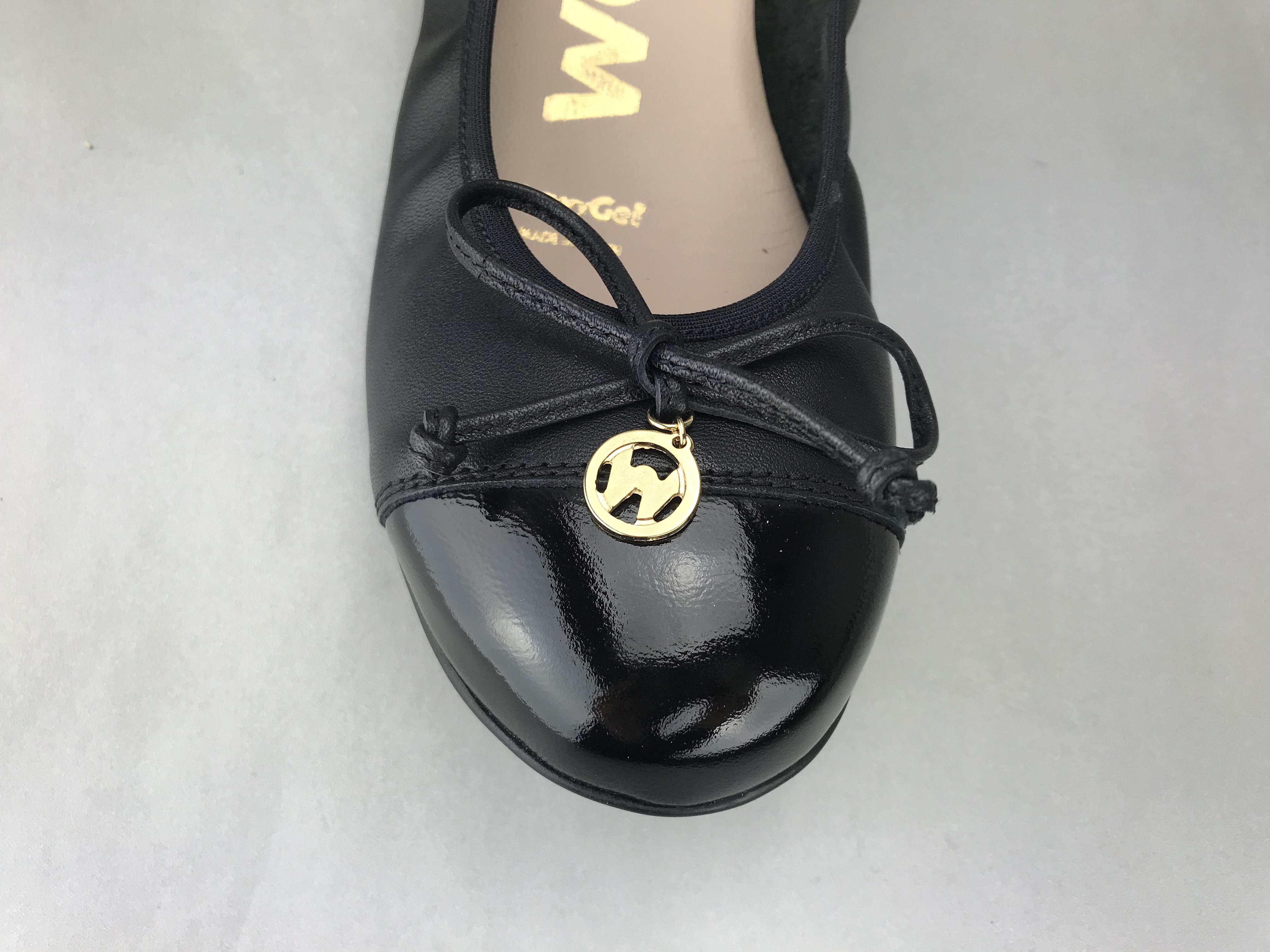 Wonders sandal m. hæl - sort lak - DAME - zjoos-hjoerring.dk