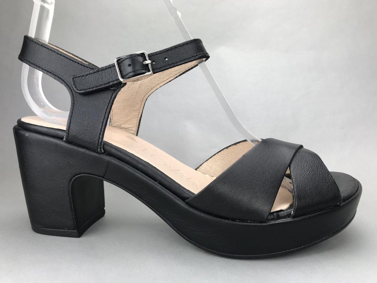 Wonders sandal/slippers - sort - DAME - zjoos-hjoerring.dk