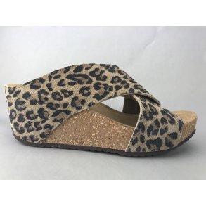 02ee5d42805 Copenhagen Shoes kork sandal m. kryds - leopard