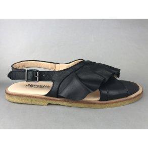09ad041c478 Angulus sandal m. kryds og flæse - sort 5538-101