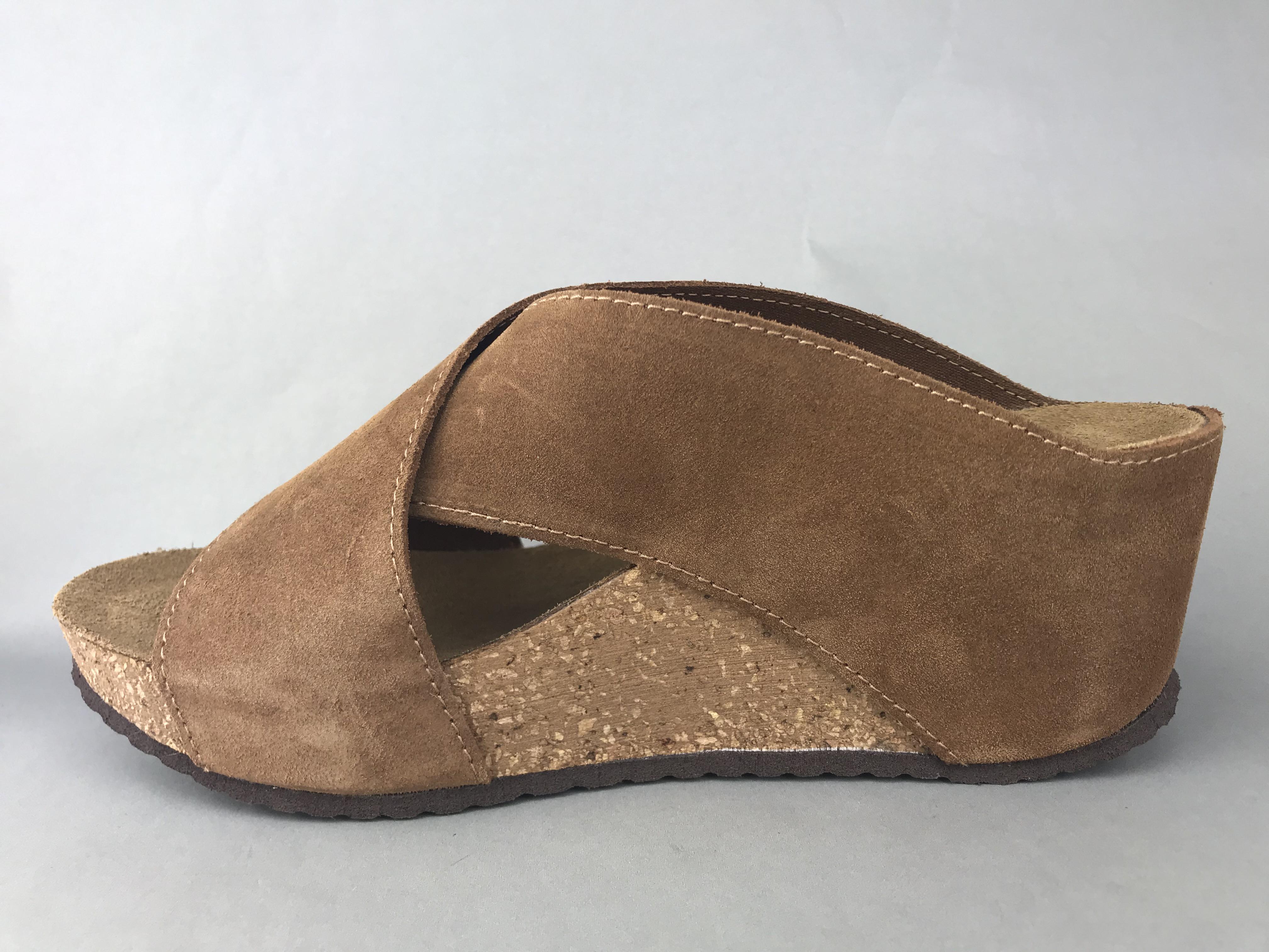 dc594d7f64b Copenhagen Shoes kork sandal m. kryds - brun - DAME - zjoos-hjoerring.dk