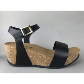 cc39431af3c Copenhagen Shoes kork sandal m. remme - sort CS1856