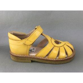 152ee46b6b2e Angulus børne sandal - gul lak 5186-101