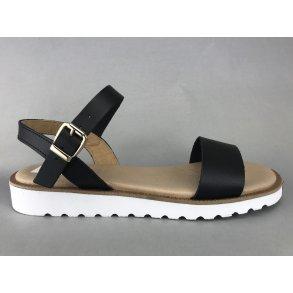 a0dedd8358c LBDK sandal m. hvid sål - sort