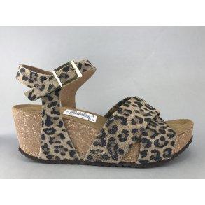 6a80d5d8c28 Copenhagen Shoes kork sandal m. remme - leopard